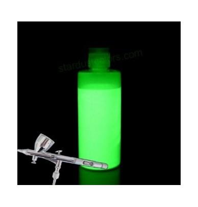 Peinture photoluminescente pour aérographe VERTE