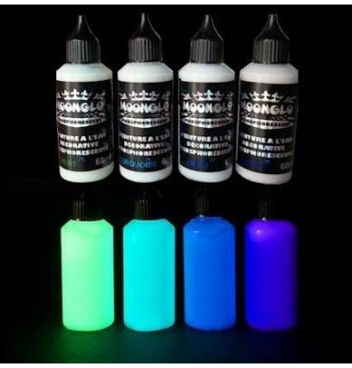 4 x 50ml Set Complet couleurs phosphorescentes