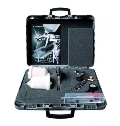 MALETTE 2 PISTOLETS IWATA - LS400 Entech + WS400 EvoClear