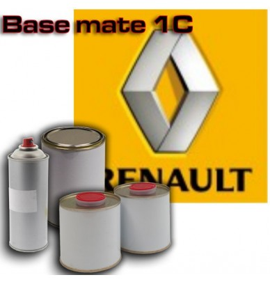 Peinture Renault - base mate à vernir en pot ou en spray