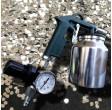 Pistolet de sablage haute performance avec manomètre de réglage de pression