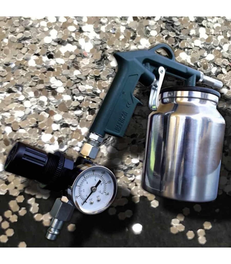 Pistolet de sablage haute performance avec manom tre pistolets peinture automobile - Pistolet peinture automobile ...