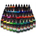 Peintures opaques Acryliques pour aérographe - Version 1L - 43 Couleurs différentes