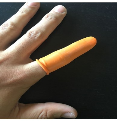 Gants de doigts en caoutchouc - Lot de 100