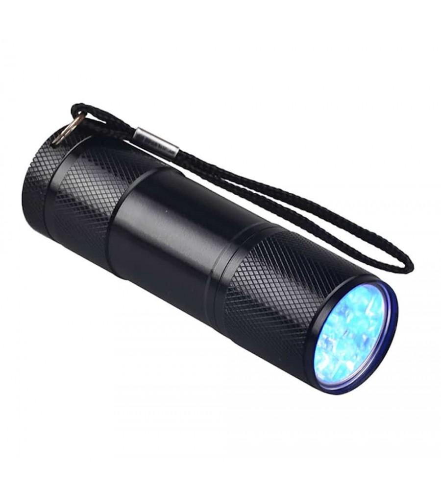 Mini lampe-torche portative ultra violet lumière UV avec lampe de poche LED/_F.jk