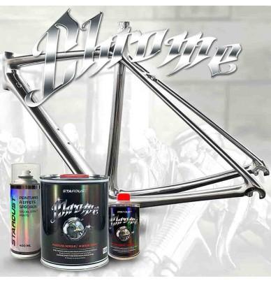Peinture effet chrome pour vélo – kit complet couleur au choix