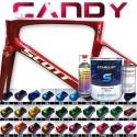 Kit complet de peinture Candy pour vélo