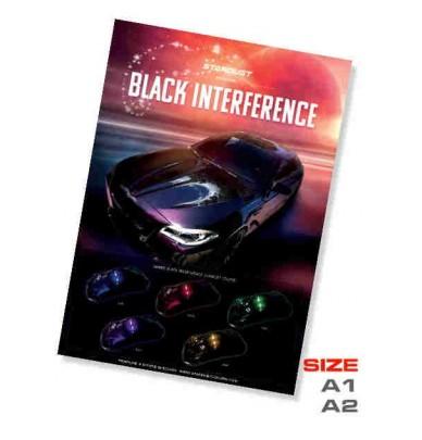 Poster peinture Black Interference