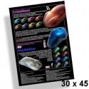 Poster 30x45cm Effets cristaux et marbre