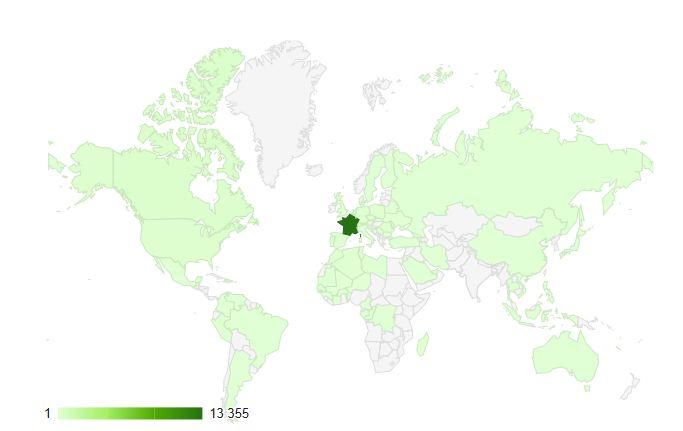 Stardustcolors présent dans 112 pays !