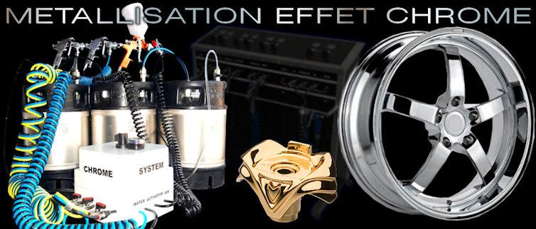 La métallisation et le chromage par pulvérisation