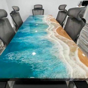 Effet mer et vague avec résine époxy : tutoriel et démo