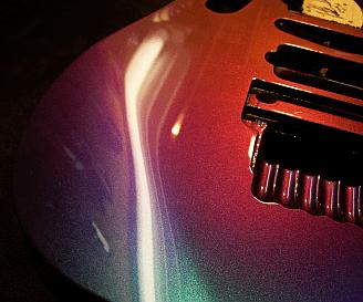 peinture guitare Caméléon