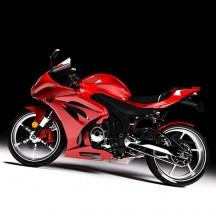 Kit peinture pour carrosserie moto