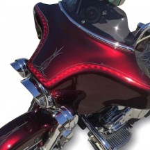 Les peintures moto métallisées