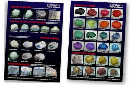 brochure des pigments et nacres pour résine époxy