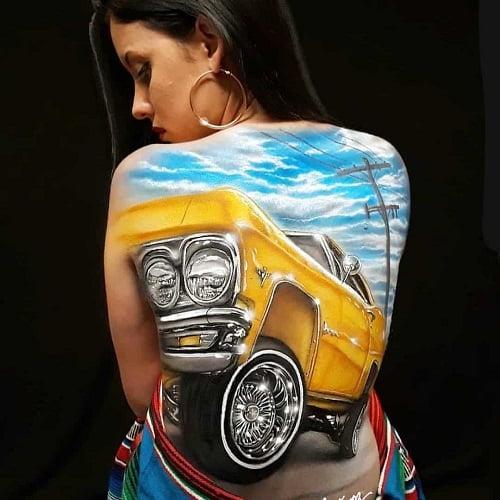 Aérographe pour peinture sur corps