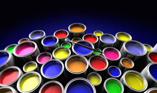 peintures solvantées en pots de 1L à 5L