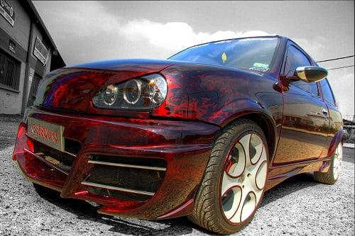 Peinture voiture à effet de texture