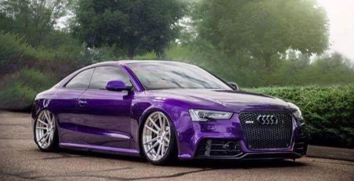 réalisation Stardust sur Audi RS5 peinture violet candy