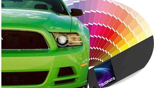 Peinture auto avec effet de teintes