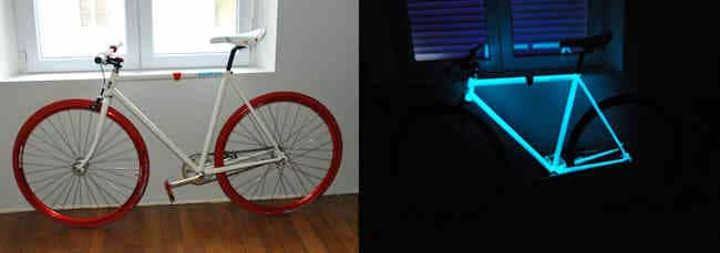 Comment peindre un vélo avec une peinture phosphorescente ?