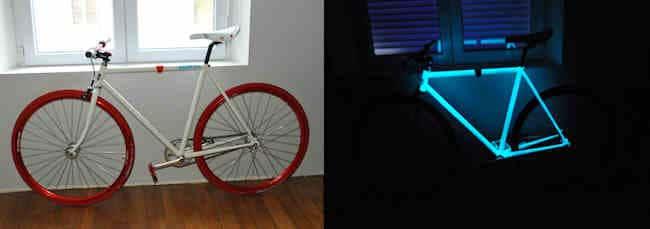 Peinture phosphorescente pour vélo
