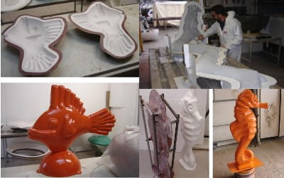 pièces artistiques de résines moulées avec silicone liquide