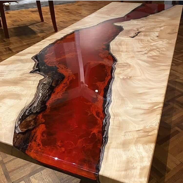 r sines epoxy transparentes et sans solvants r sine poxy et table rivi re. Black Bedroom Furniture Sets. Home Design Ideas