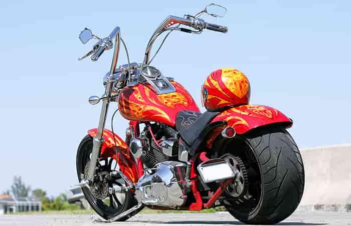 Les types de peinture moto